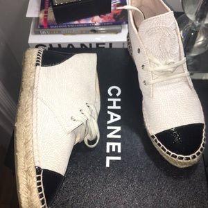 Chanel Espadrilles high tops.